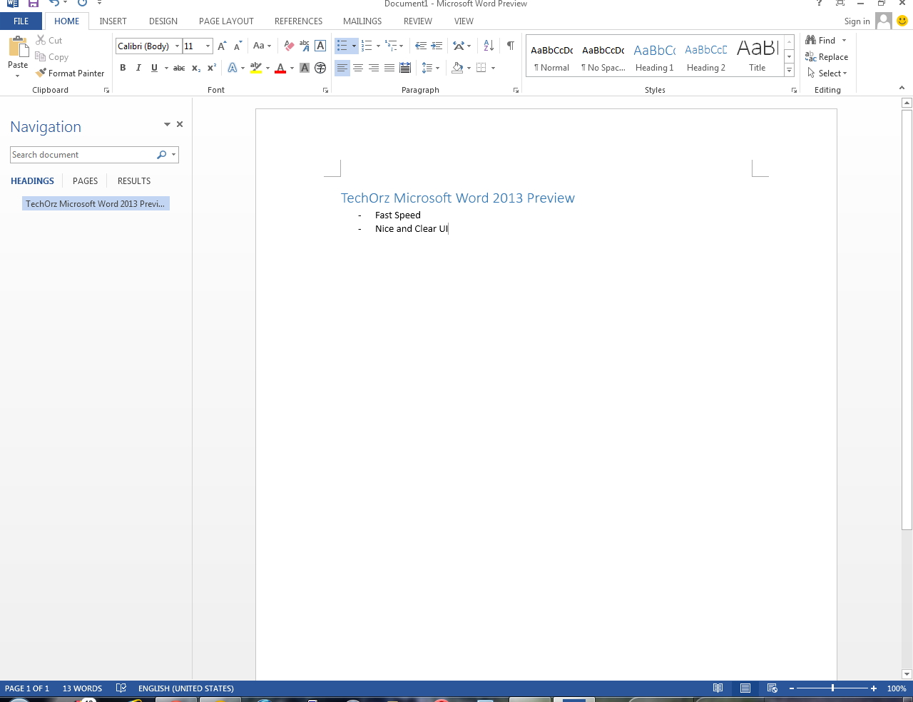 MS Office 2013 Word