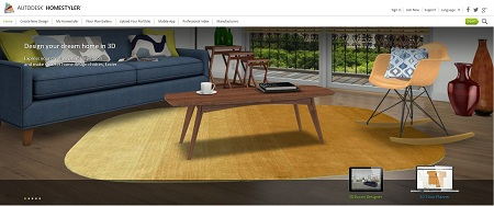 Autodesk Homestyler website
