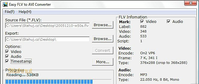 Easy FLV to AVI Converter