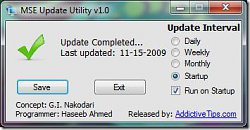 MSE Update Utility