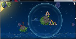 Prostredie leveluAngry Birds Space
