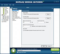 NastavenieReplay Media Catcher