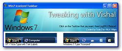 Windows 7 Taskbar Iconizer