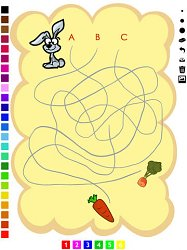ZajacLabyrinth Learning games for children age 3-5 (mobilné)