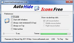 Auto Hide Desktop Icons