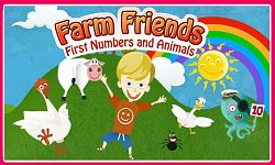 Logo hryFarm Friends: First Numbers and Animals (mobilné)
