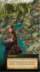 Jack Sparrow a questPirates of Caribbean: ToW (mobilné)
