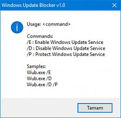 ParametreWindows Update Blocker