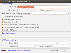 Rajče album downloader