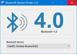 Okno programuBluetooth Version Finder