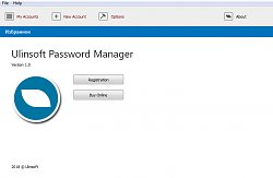 Program po spusteníUlinsoft Password Manager