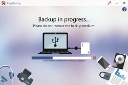 Backup v proceseEasyBackup