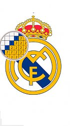 Real MadridLogo pixel by color: Football manager puzzle (mobilné)
