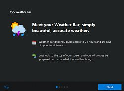 TutoriálWeather Bar